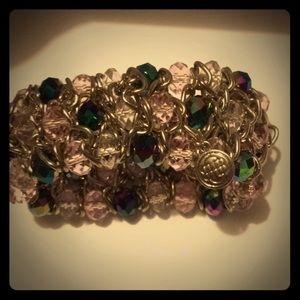 Bracelet colors bead 3 color blue ,green,purple